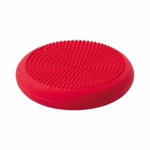 Mooi rood balanskussen gevuld met lucht en noppen.